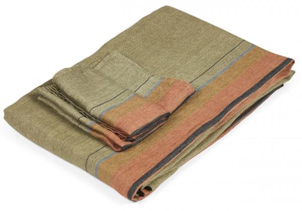 Libeco Tischläufer St. Jacob´s Stripe rost/oliv