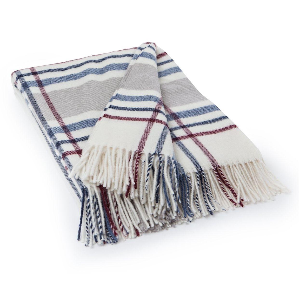 Liebenswert Decke Beige Dekoration Von Lexington Wool Checked Weiß/beige/blau/rot | Decken |