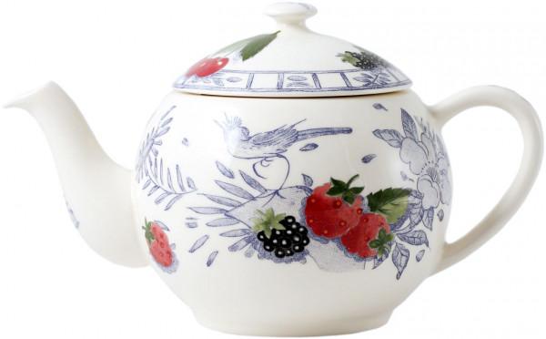 Gien Oiseau Bleu Fruits Teekanne