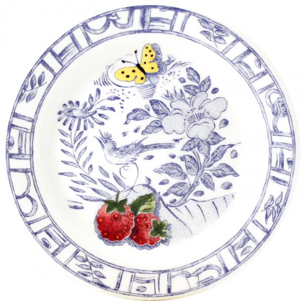 Gien Oiseau Bleu Fruits Konfiserieteller