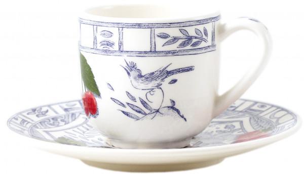 Gien Oiseau Bleu Fruits Espressotasse