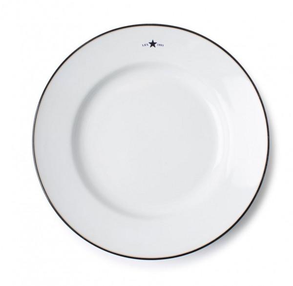 Lexington Dessertteller Stoneware weiß/blau 4er-Set