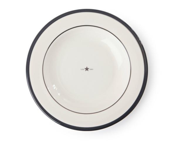 Lexington Suppenteller Details weiß/grau 4er-Set