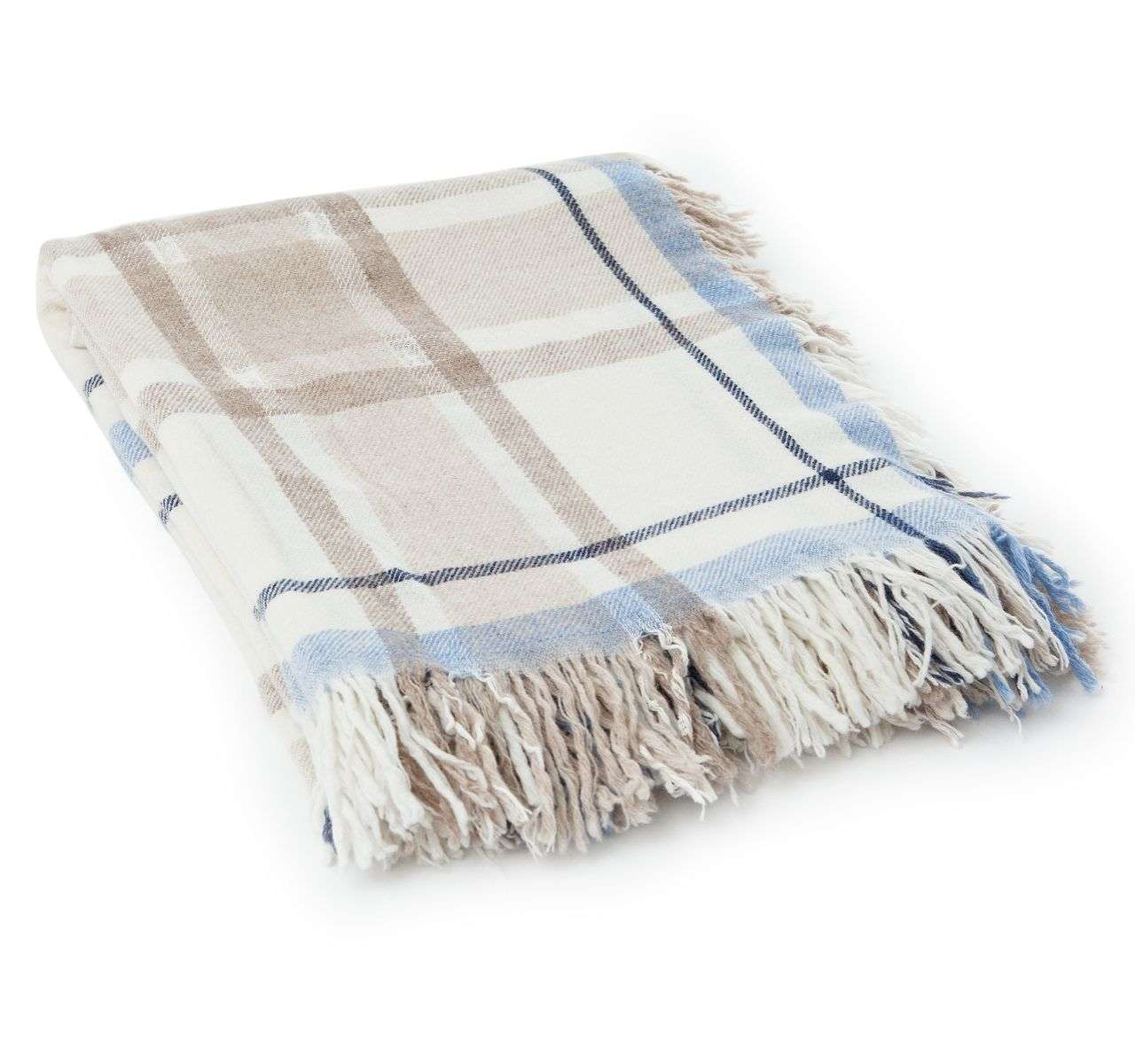 Exquisit Decke Beige Beste Wahl Lexington Wool Checked Beige/blau | Decken |