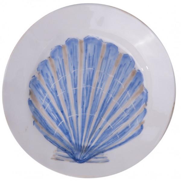 Flamant Teller Mare Muschel blau