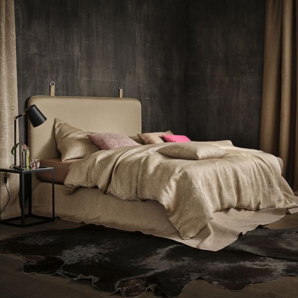 Leitner Leinen Bettüberwurf Intarsio