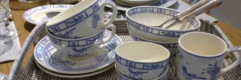 oiseau bleu geschirr gien marken leben mit stil. Black Bedroom Furniture Sets. Home Design Ideas