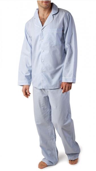 Lexington Pyjama American Authentic blau/weiss