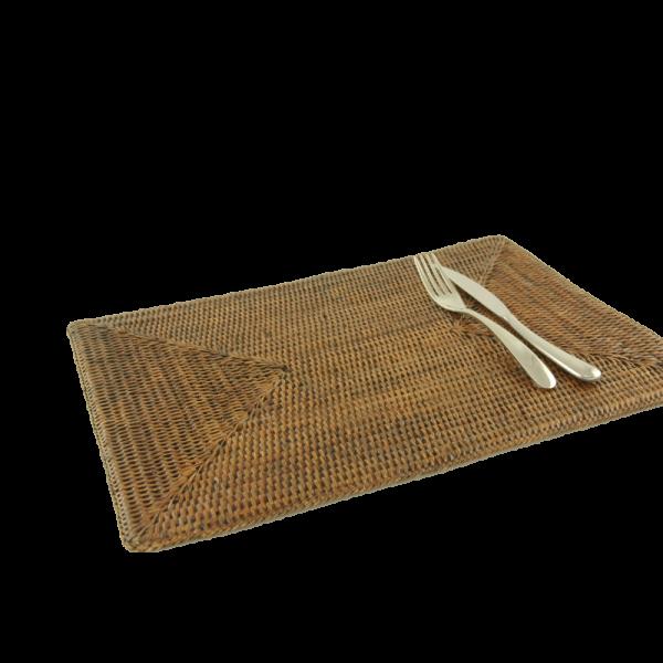 Tischset rechteckig Togo braun