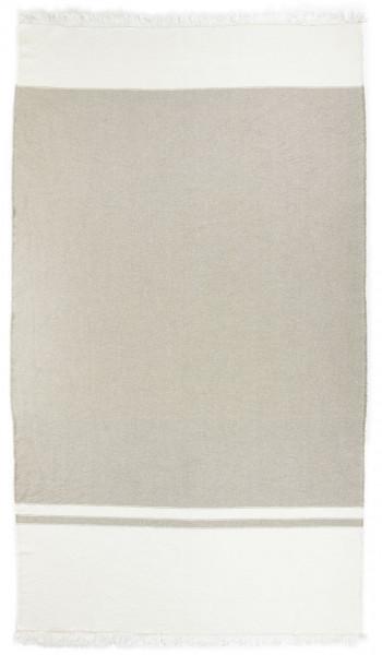 Libeco Plaid Charlotte grau-weiß