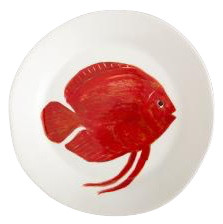 Flamant Teller Mare Fisch 2 rot
