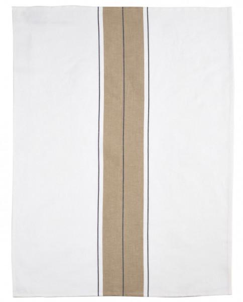 Libeco Geschirrtuch Zwirn Stripe weiß/beige
