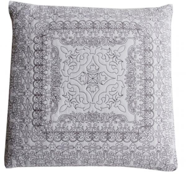 Flamant Kissen Pattern weiss/grau 45x45 cm