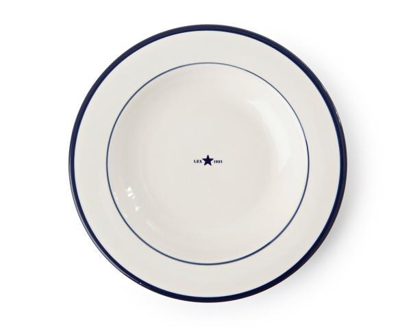 Lexington Suppenteller Details weiß/blau 4er-Set