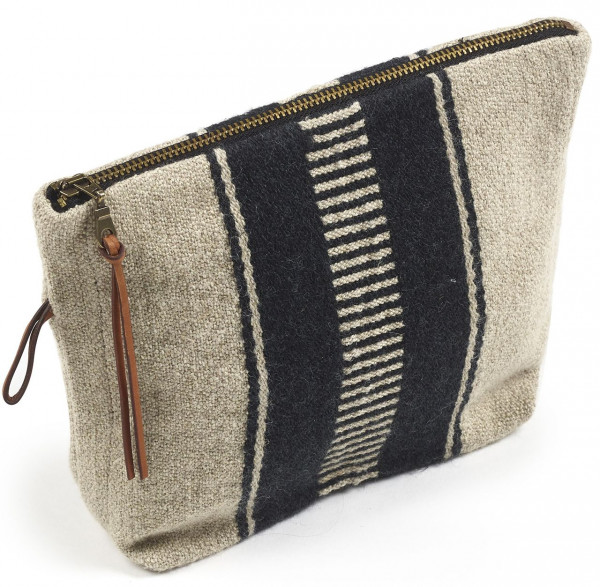 Libeco Tasche klein Marshall Multi-Stripe beige-schwarz