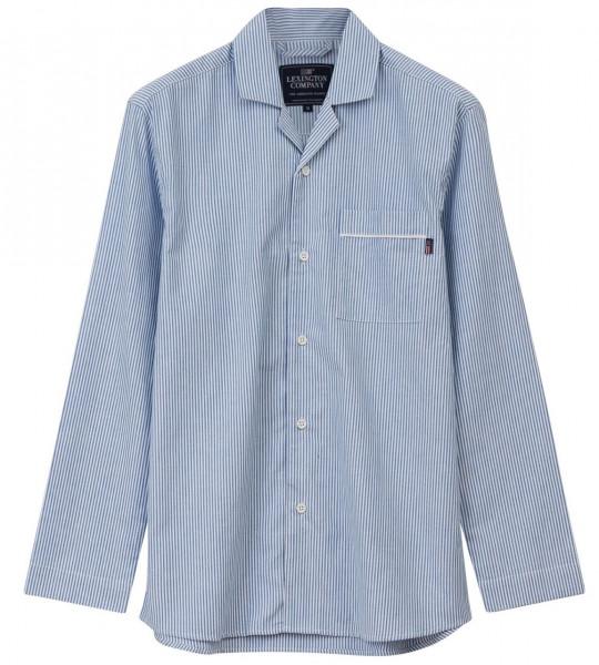 Lexington Pyjama Bio blau/weiß