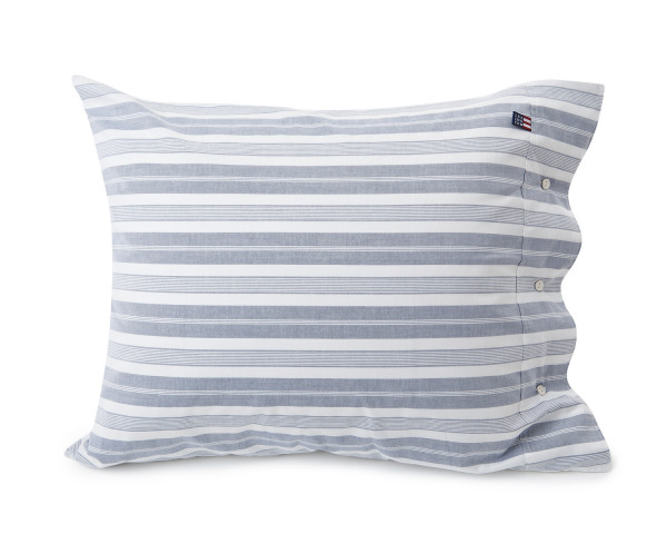 Lexington Kissenbezug Pin Point Striped blau/weiß 40 x 80 cm