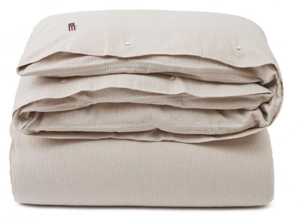 Lexington Bettwäsche Flanell Streifen beige/weiß