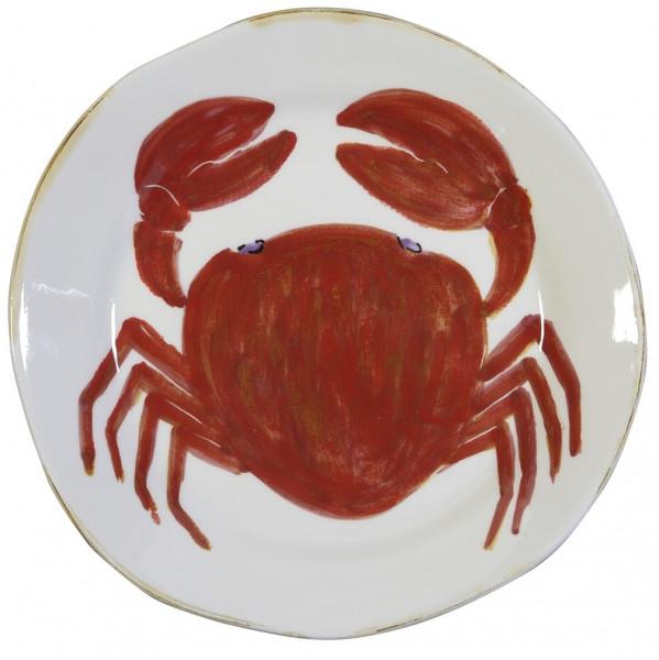 Flamant Teller Mare Krabbe rot