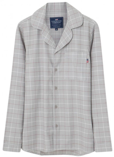 Lexington Pyjama Victor grau/weiß kariert