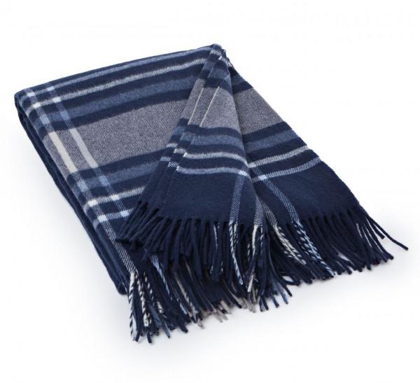 Lexington Decke Wool checked blau