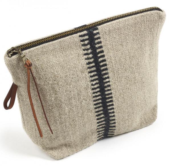 Libeco Tasche klein Marshall Small-Stripe beige-schwarz