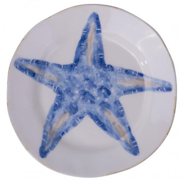 Flamant Teller Mare Seestern blau