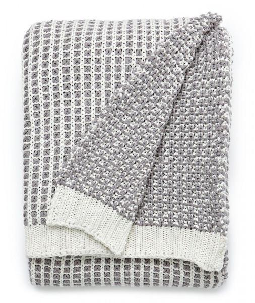 Lexington Decke Knitted Throw grau/weiß