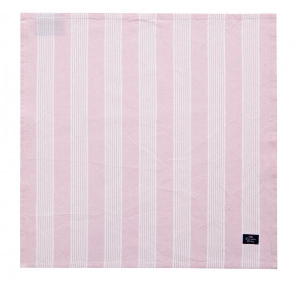 Lexington Serviette Stripe rosa/weiß