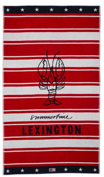 Lexington Strandtuch rot/weiß