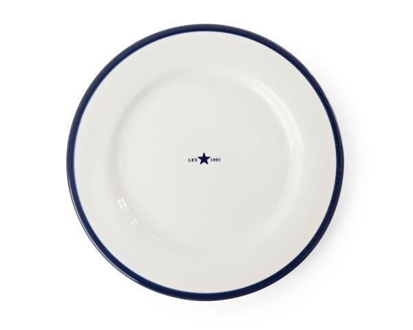 Lexington Dessertteller Details weiß/blau 4er-Set