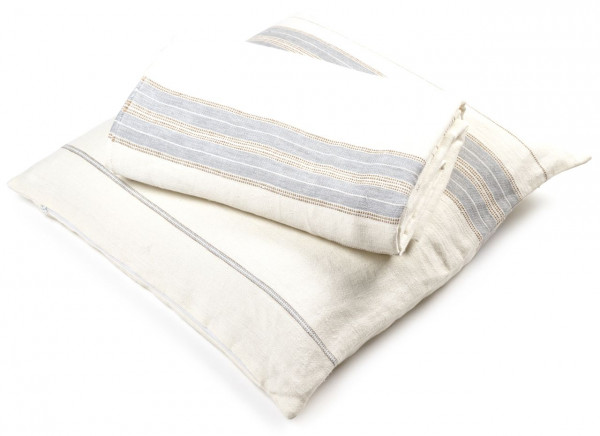 Libeco Plaid Propriano weiß/grau/beige