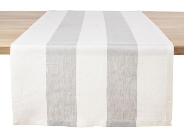 Libeco Tischläufer Long Island weiß/grau