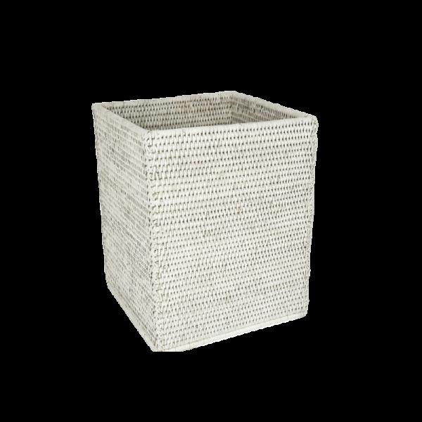 Papierkorb quadrat Togo weiss