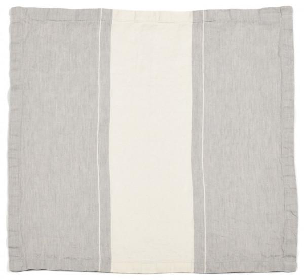 Libeco Serviette Atelier Stripe grau/weiß